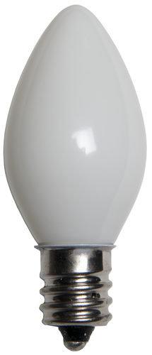 25 - C7 Opaque White Color  Bulbs, 7 Watt Light Bulbs