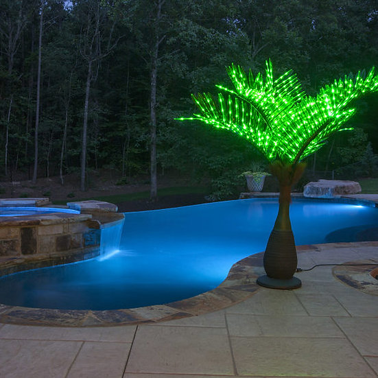 Bottle Commercial LED Palm Tree, Green FREE SHIPPING