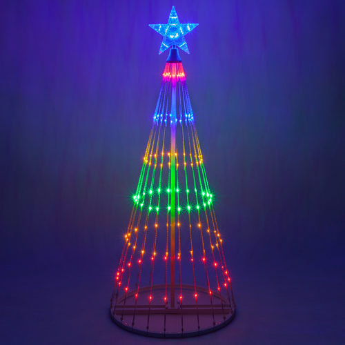 6 Foot Tall Multi Color LED Animated Light Show Tree