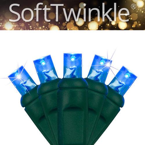 50ct 5mm SoftTwinkle Wide Angle Blue LED Christmas Lights