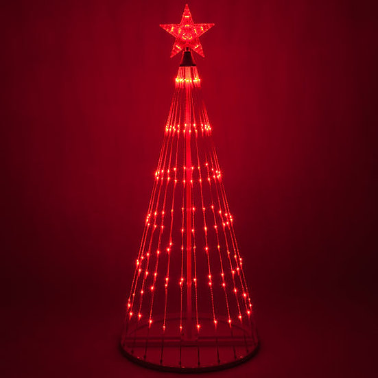 12 Foot Tall Red LED Animated Light Show Tree
