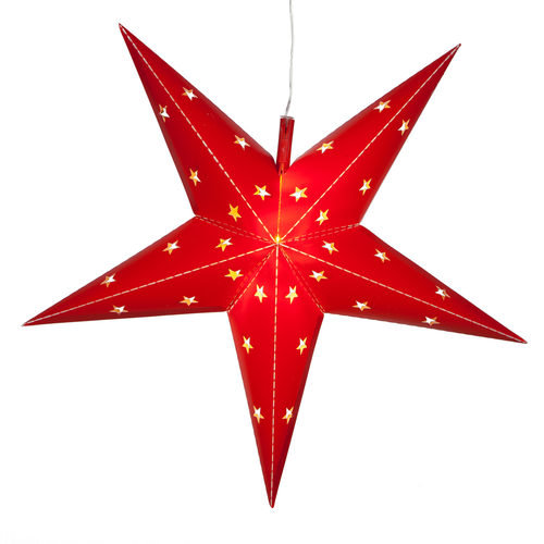 Red Aurora Superstar 5 Point Star Light, Fold-Flat, LED Lights, Outdoo