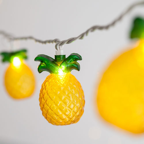Pineapple String Light Set, 10 Clear Lights