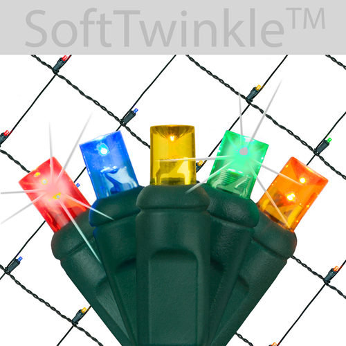 Soft Twinkle LED Net Lights Multi Color