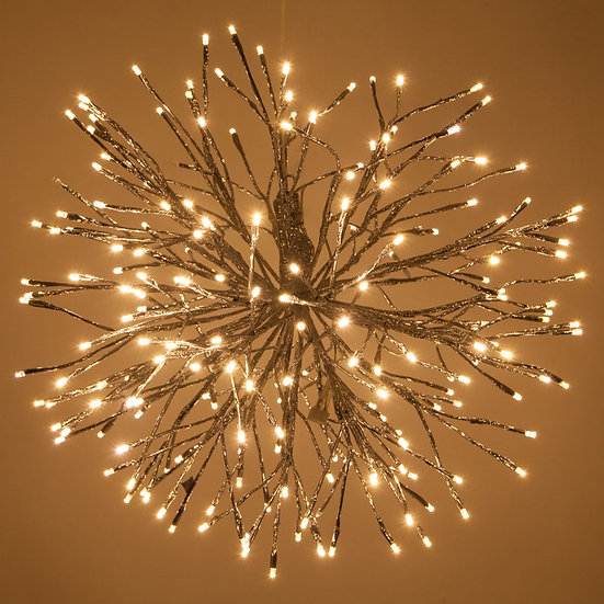 Twinkle Warm White LED Silver Starburst Lighted Branches 12, 18, 24 inch