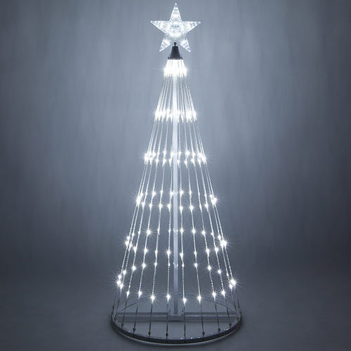 12' White Color LED Animated Christmas Tree