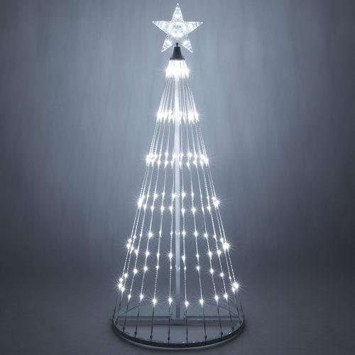 Cool White LED Light Show Tree