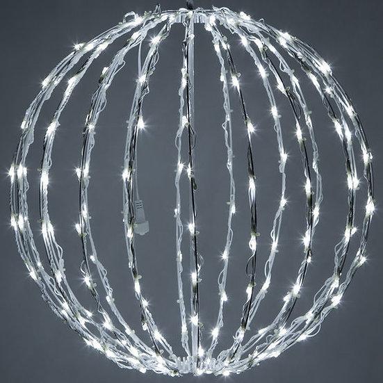 Cool White LED Light Ball, Fold Flat White Frame