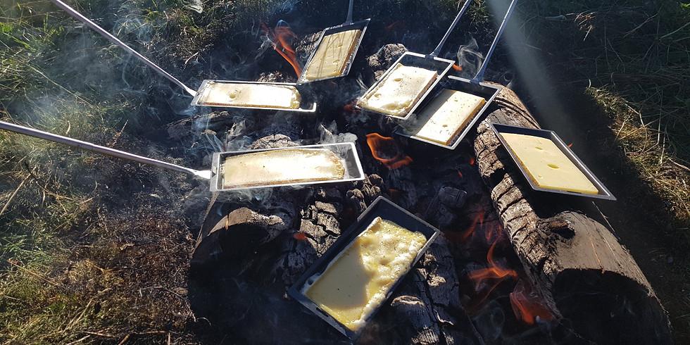 Raclette au coucher de soleil