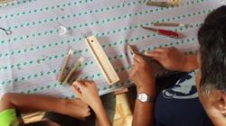 Création d'une flûte en bois de sureau.