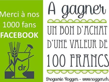 A gagner: un bon de 100 francs...