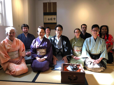 Demonstration at The Chanoyu Club at Penn State University