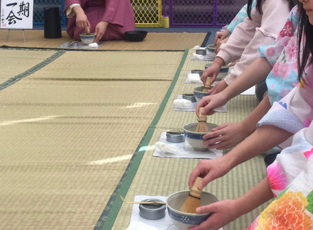 学校茶道 キッズ国際学園 茶の湯体験Chanoyu workshop at Kids International Weekend School in NJ