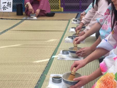 学校茶道 キッズ国際学園 茶の湯体験Chanoyu workshop at Kids International Weekend School in NJ