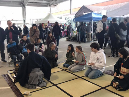 Tea ceremony at White Plains Cherry Blossom Festival
