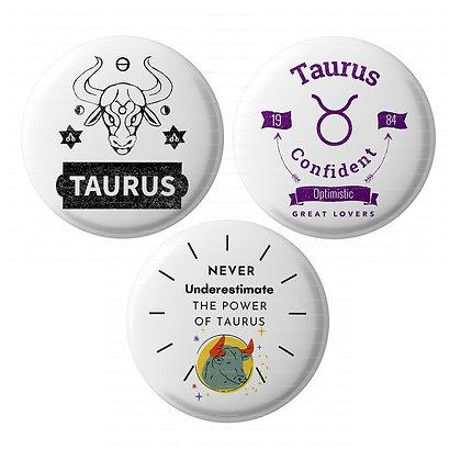 Lastwave Horoscope Badge Collection ,Pin Back Badge (Pack of 3,44mm, HL-12)