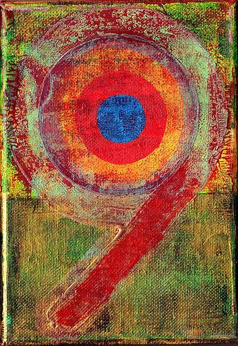 Detail of original painting 43_CD