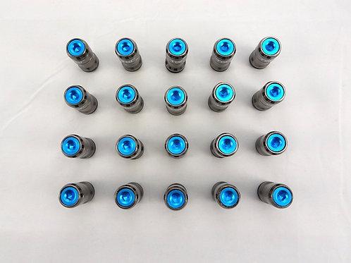 Turquoise Blue Set Of 20 Aluminium End Caps