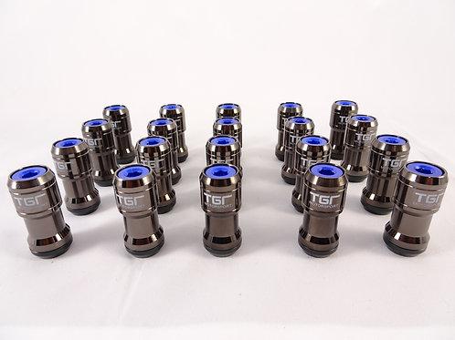 Gunmetal Royal blue Wheel Nut Set