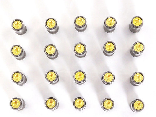 Gold Set Of 20 Aluminium End Caps