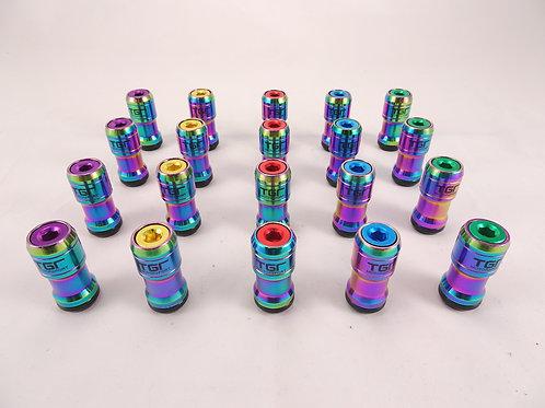Neo Chrome Rainbow Wheel Nut Set