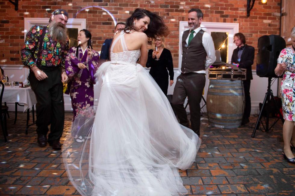 Bride & Groom Dancing