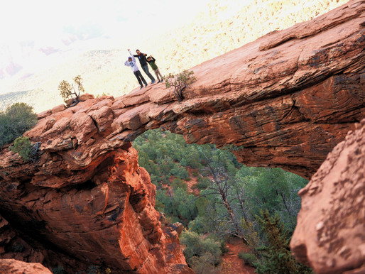 Sandstone Arch, Sweeping views from the Devil's Bridge - Sedona, AZ