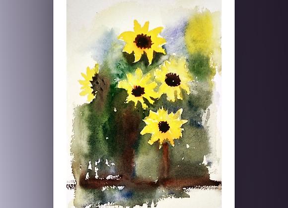 Sunflower's vase
