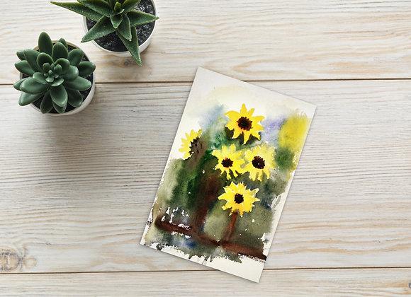 Sunflower's Vase : Postcard