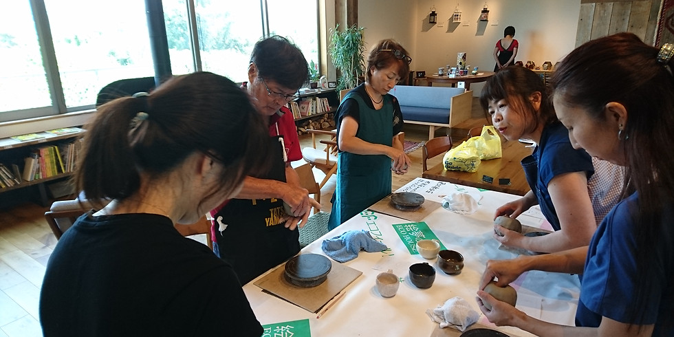 陶芸講座 手びねりで作る暮らしの器 10月
