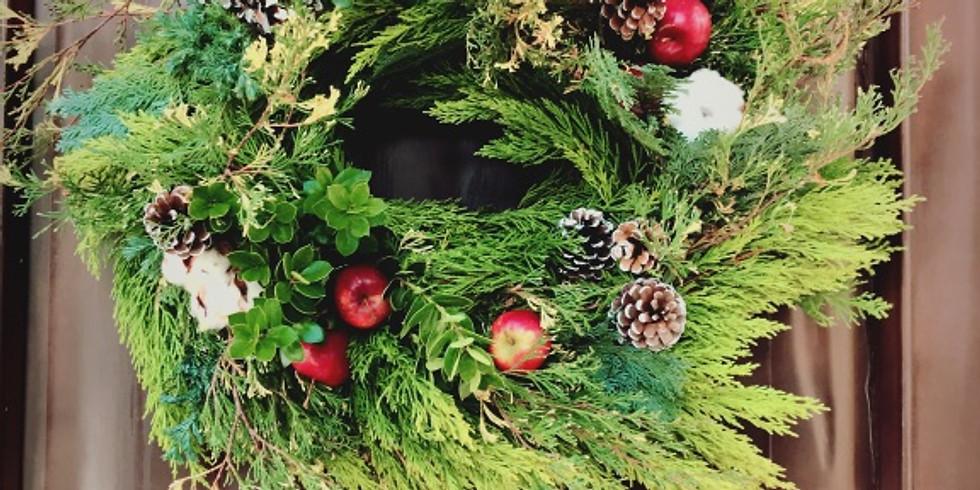 フレッシュグリーンでつくるクリスマスリース ※満席となりました!