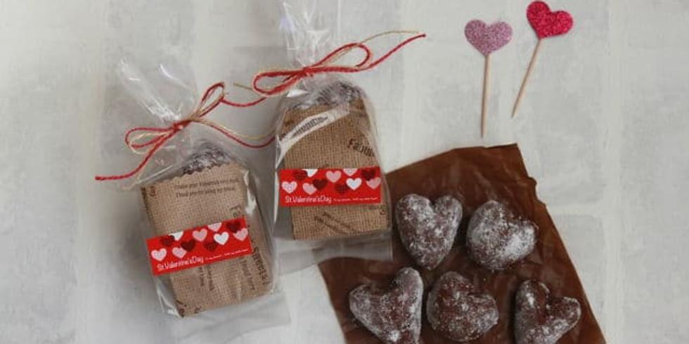 おうちパン<2月 バレンタインのパン・ハートのシュガーバター・チョコフライパンパン>