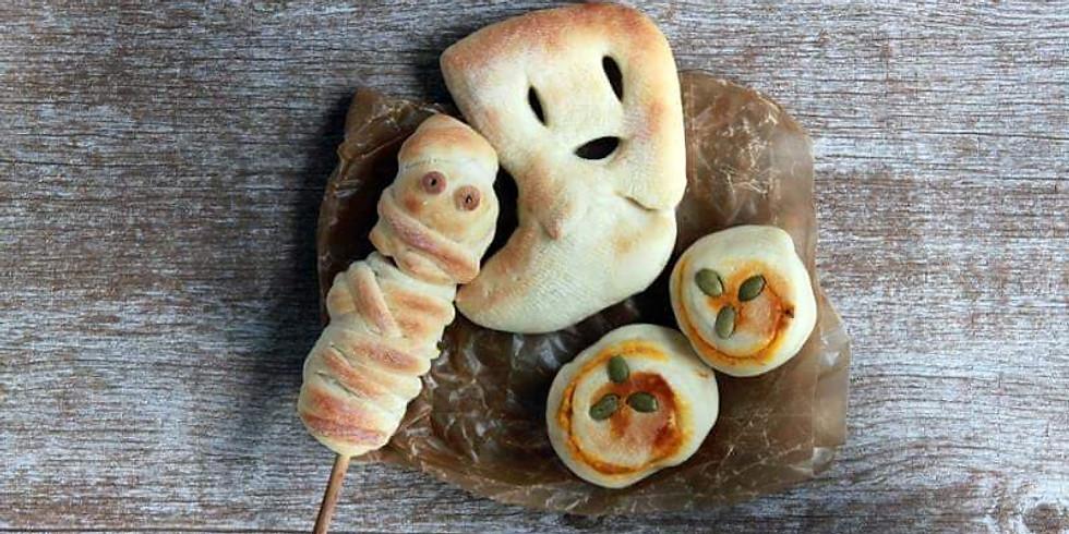 おうちパン  <ハロウィンメニューおばけナンほか2種類>