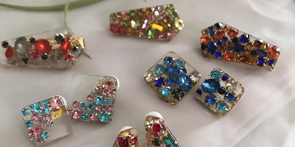 親子で作る宝石のアクセサリー