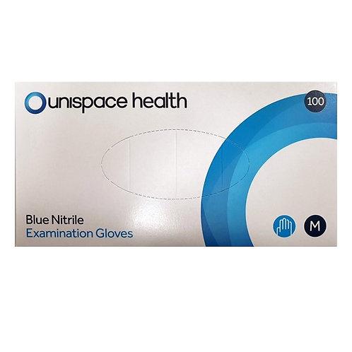 Nitrile Blue Examination Gloves (100 Pack)