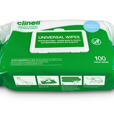 Clinell Universal Wipes 100