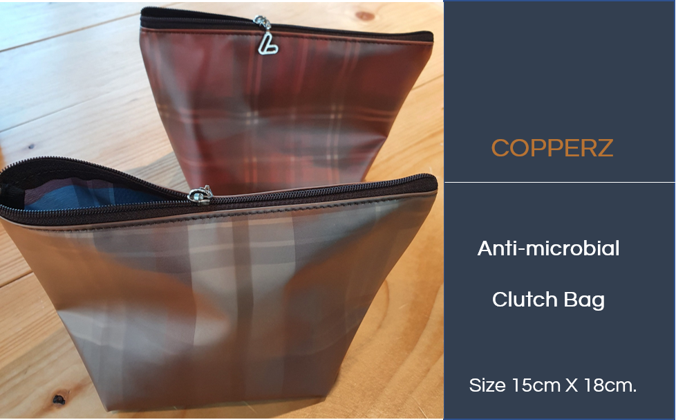 COPPERZ Antimicrobial Clutch Bag