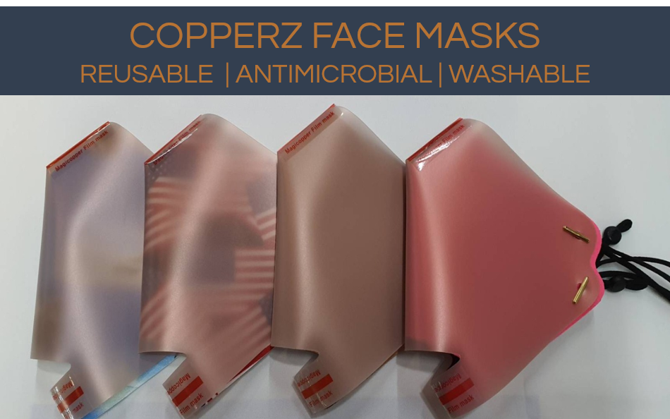 COPPERZ Anti Microbial Face Mask