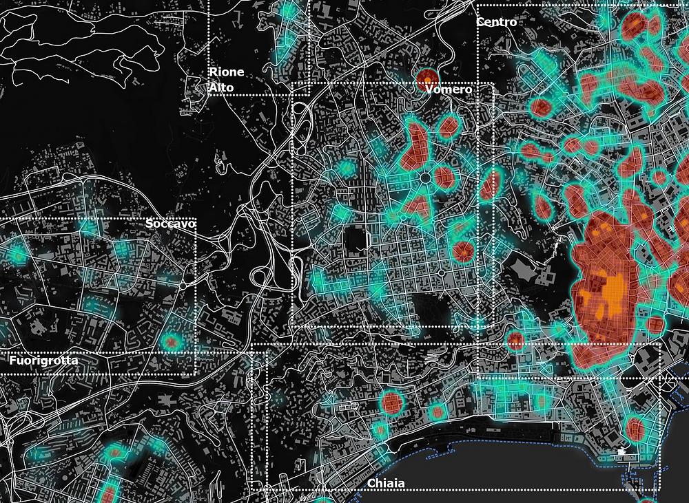 Figura 8 – Analisi per lo sviluppo dei microspazi Napoli