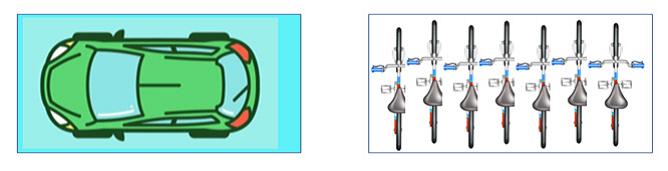 Figura 7 - il parcheggio è anche un uso efficiente dello spazio (fonte: Vecteezy)