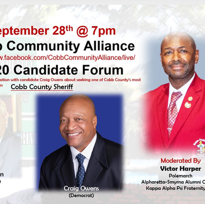 Sept. 28 | Cobb Community Alliance Candidate Forum