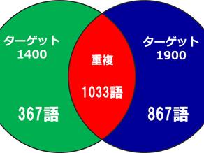 【最新版】T1400 v.s. T1900(英単語帳比較)