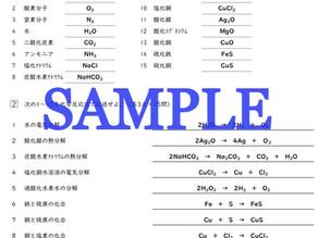 【小テストあり】中2理科・化学反応式