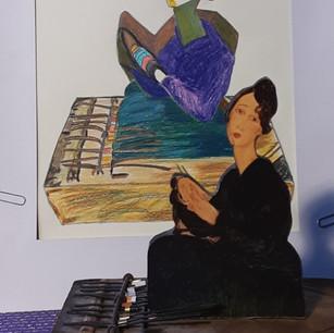 Rachel Landry, Objet Modigliani No 1 sur piano, 2021
