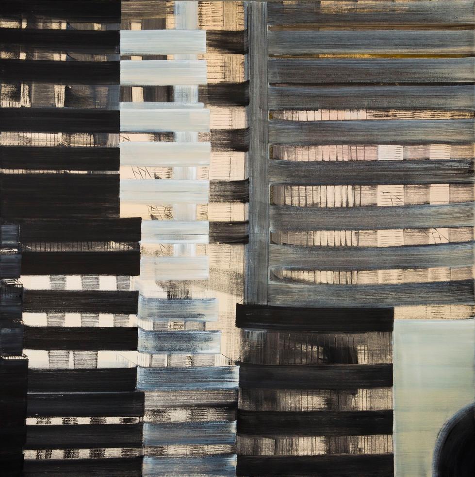 Suly Bornstein Wolff, Grid series 1, oil