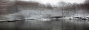 Bridge in the snow the Ducks r there 85X