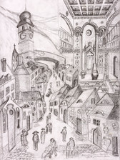 Sibiu, Study for Painting 123, Pencil on Faberge Paper, 30x40cm, 2020.jpg