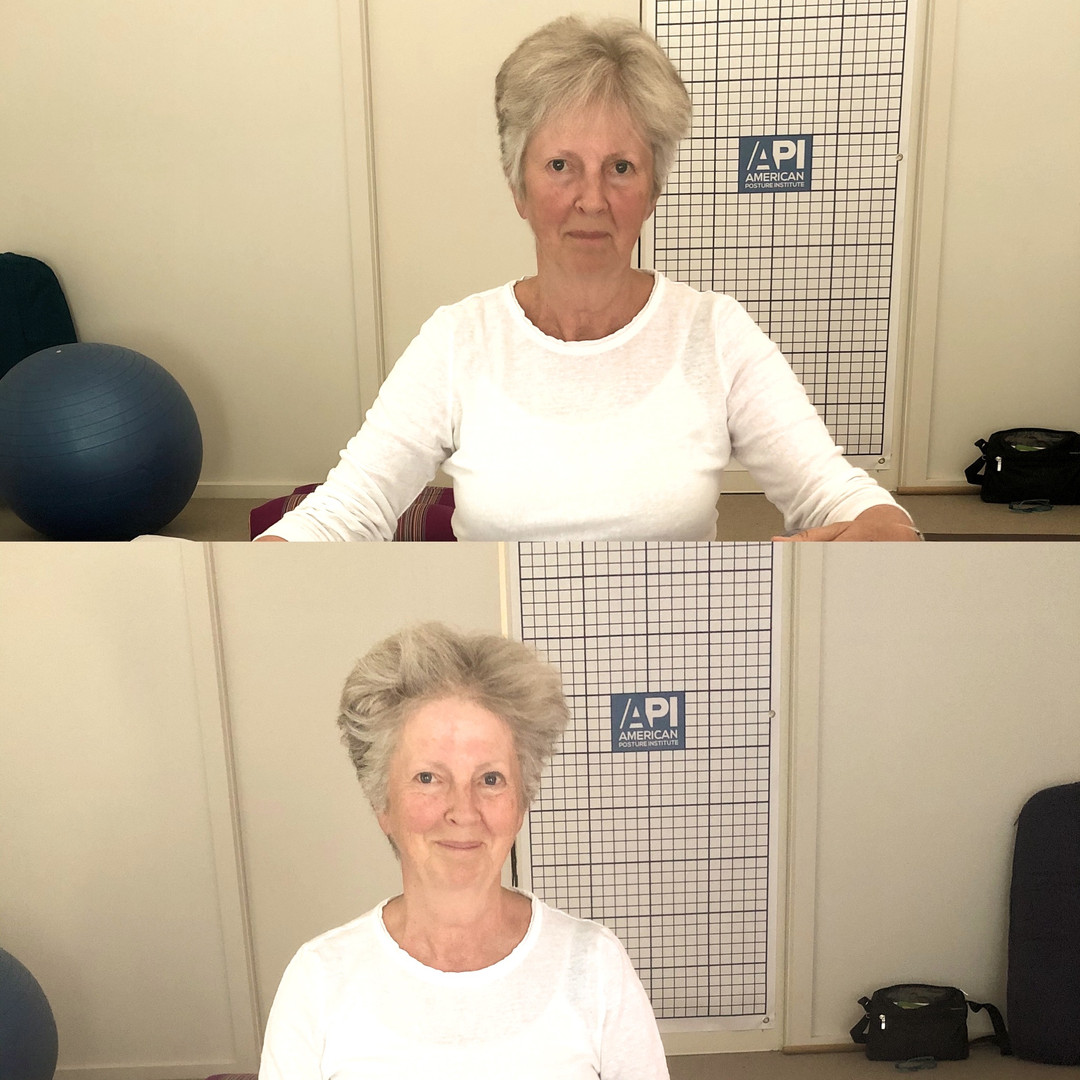 Before and after Thai yoga massage