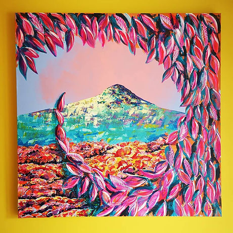 Roseberry Topping, Colourful painting, abstract