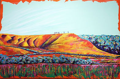 , Devizes. colourful Acrylic painting